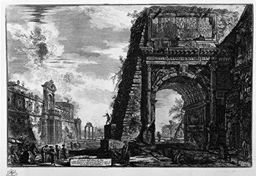 Berkin Arts Giovanni Battista Piranesi Giclee Lienzo Impresión Pintura póster Reproducción Print(Vista del Arco de Tito)