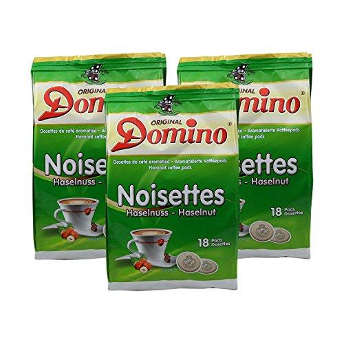 3 x DOMINO Kaffeepads Haselnuss 18 Pads