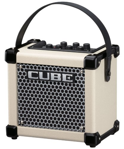 Roland Micro Cube GX Guitar Amplifier, Ultra-Compact Guitar Amp with Custom-Designed Speaker, White