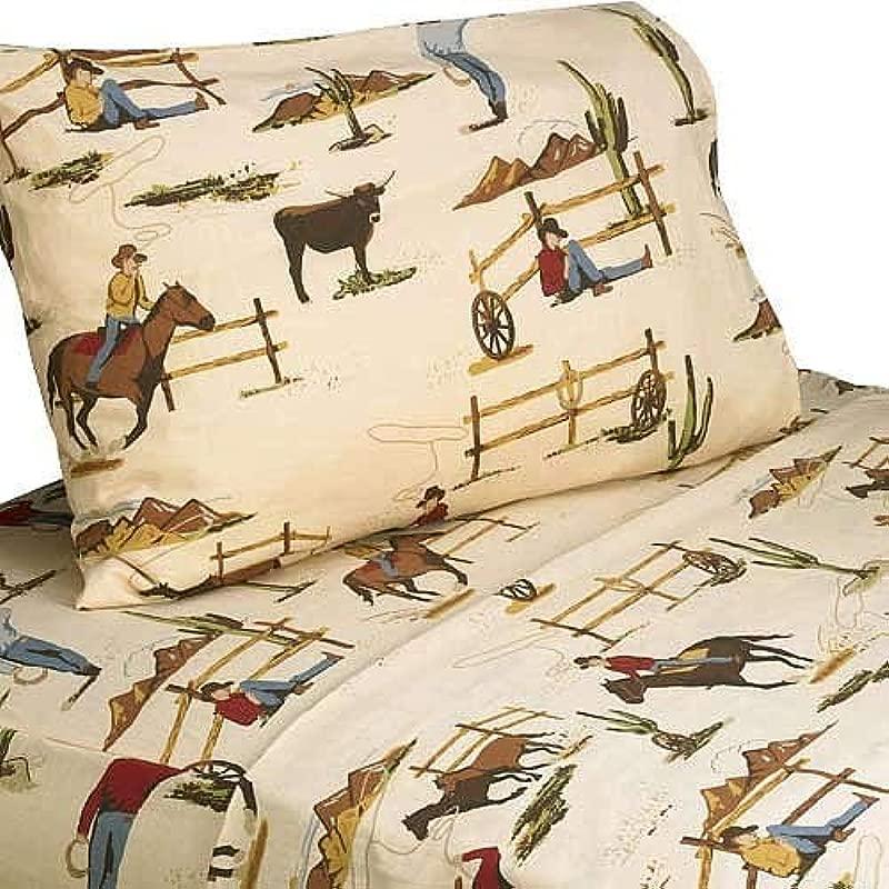 Sweet Jojo Designs 3 Piece Twin Sheet Set For Wild West Cowboy Children S Bedding Collection