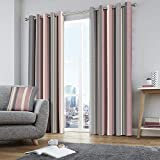Fusion Whitworth Stripe Dos Paneles de Cortina, Tela, Curtains: 66' Width x 90' Drop (168 x 229cm)