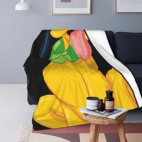 Pluto Disney - Manta de felpa suave y cálida con impresión digital ultrasuave para sofá, cama, sala de estar, 125 x 150 cm