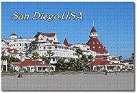 BEI YU MAN.co アメリカアメリカサンディエゴホテルビーチカリフォルニア大人のためのジグソーパズル子供1000ピースギフトのための木製パズルゲーム家の装飾特別な旅行のお土産