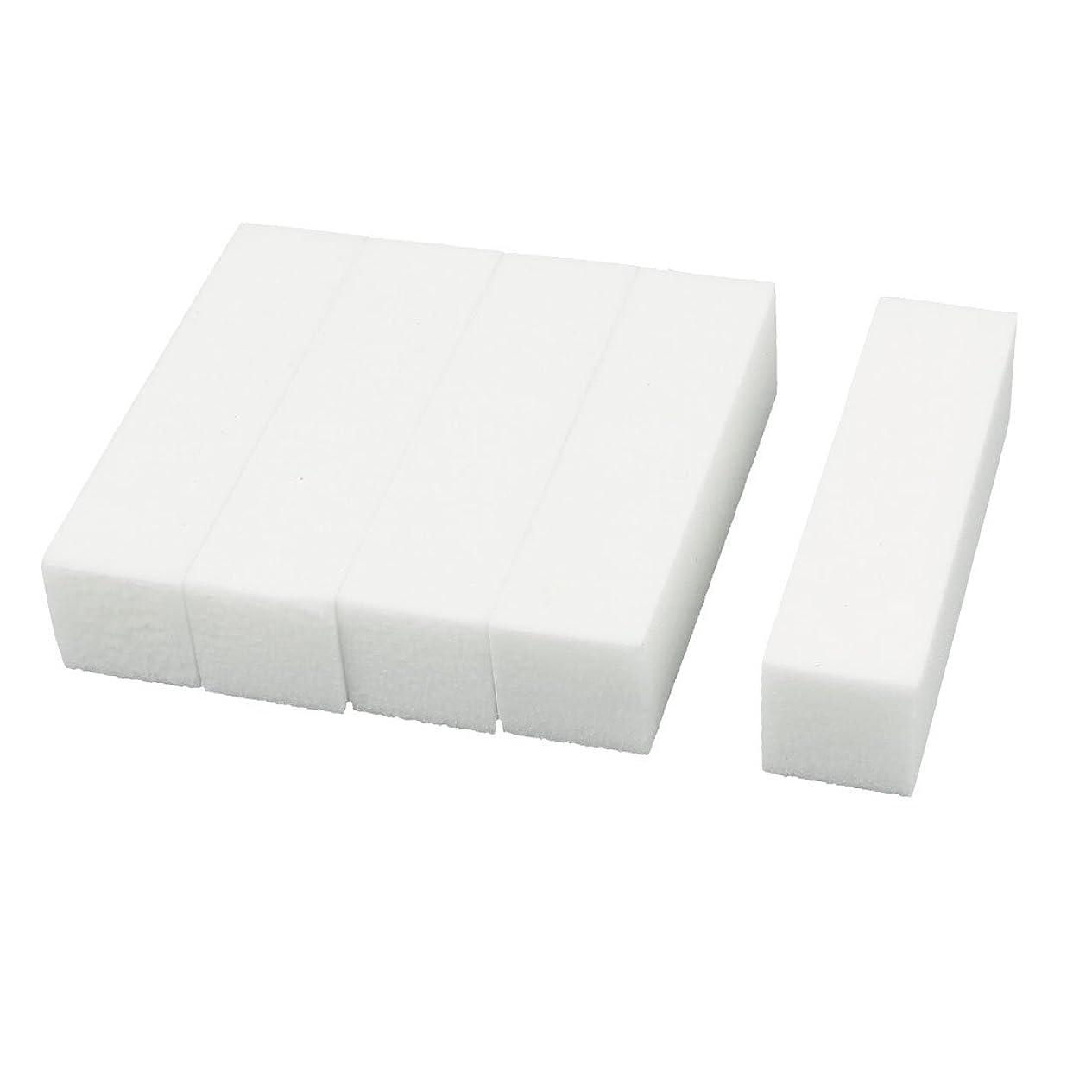 学ぶ男らしい寝室uxcell ネイルファイル サンディングブロック ヒント マニキュアツール バッファ ホワイト 4ウェイ 5個セット