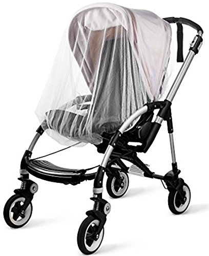 KIDLUF Mosquito and Bug Net for Baby Strollers, Bassinets, Cradles and Car Seats – Insect Net Safe Mesh White Buggy Cover for Pushchairs, Prams, and Carrycots