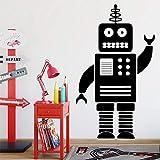 Tianpengyuanshuai Funny Robot Wall Sticker Vinilo Wall Art Decal Wall Sticker 36X60cm