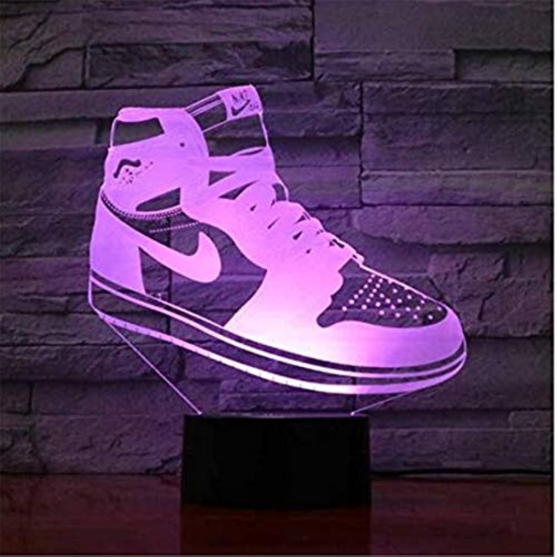 Led-leuchten Edison Lights Kreative 3D Schuhe Form Schreibtischlampe Led 7 Farben ndern Visuelle Atmosphre Acryl Nachtlicht