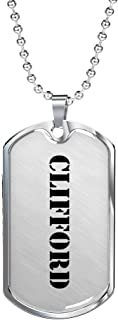 Clifford - Luxury Dog Tag Necklace Personalized Name Father's Day Birthday Gifts Jewelry
