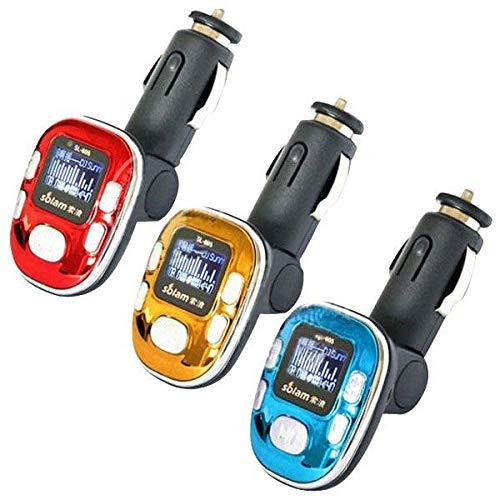 WZhen Transmisor FM del Coche Reproductor Multimedia Mp3 Sl-605 12V Encendedor De Cigarrillos 2Gb - Oro