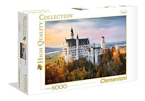 Clementoni 36522 Neuschwanstein – Puzzle 6000 Teile, High Quality Collection, Geschicklichkeitsspiel für die ganze Familie, farbenfrohes Legespiel, Erwachsenenpuzzle ab 9 Jahren