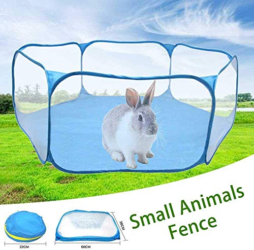 WSMMSW Small Animals Tent Foldable Animal Cage Tents Breathable Transparent Pet Exercise Fence Pet Playpen for Guinea Pig Rabbits Hamster