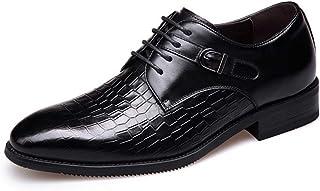 [ランボ] ビジネスシューズ メンズ 24cm 24.5cm 黒 ワニ柄 ブラック 無地 男性用 軽量営業マン 防滑 冠婚葬祭 紳士靴 ドレスシューズ 疲れにくい 滑り止め 防寒 就活