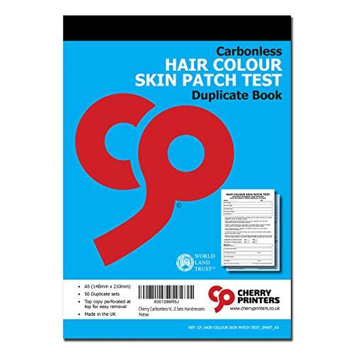 Cherry Selbstdurchschreibendes NCR-Haarfarbe-Testbuch, A5, 50 Sets