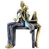 J.Mmiyi Elegante Pareja Estatua Decoracion Salon Figura, Romántico Escultura Decorativa De La Boda En El Hogar, Regalo,B