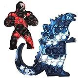 YHOUSEZZ 2PCS Big Push Pop Bubble Sensory Fidget Toys of King Kong Vs Godzilla Relieves Stress and...