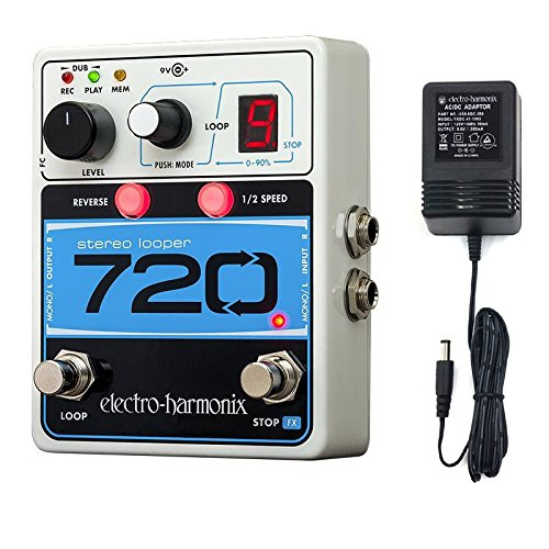 Electro Harmonix 720 Stereo Looper Effects Pedal with Power Supply