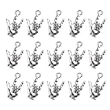 Mystart 50 Pieces 22 x 12 mm Antique Silver Hand Pendant Non-Verbal I Love You Hand Sign Charms Pendants DIY Accessories