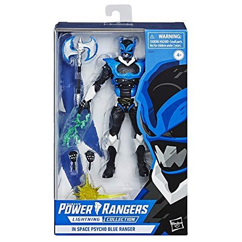 Power Rangers Lightning Collection 15cm Power In Space Psycho Blue Ranger Sammelfigur Actionfigur Spielzeug mit Blast-Effekt Axt
