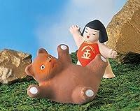 五月人形 コンパクト 陶器 小さい おとぎ話 金太郎/金太郎 相撲/こどもの日 端午の節句 初夏 お祝い 贈り物 プレゼント