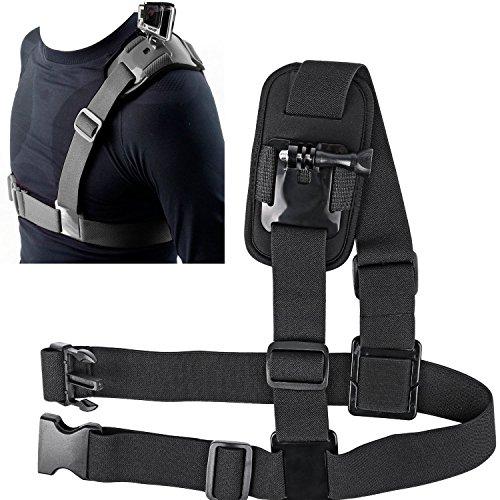 SUNMENCO Adjustable Single Shoulder Chest Mount Harness Chesty Strap for Gopro AKASO/Apeman/Pictek/DBPOWER/WIMIUS/Lightdow/Cymas Action Camera Accessories