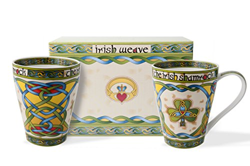 Royal Tara Irish Shamrock Mug - Irish Weave (Set of 2)