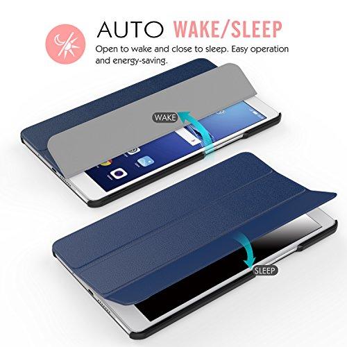 MoKo Huawei MediaPad M3 8.4 Hülle - Ultra Slim Lightweight Schutzhülle Smart Cover Standfunktion für Huawei MediaPad M3 8.4 2016 Tablet-PC perfekt geeignet, Marineblau - 6