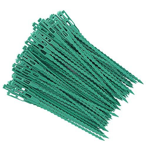 ZITFRI - 80 ganchos para tomates árboles, tutores de plantas, fijación y soporte ajustable para plantas, abrazaderas de cable de plástico para jardinería