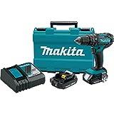 Makita XPH10R 18V Compact Lithium-Ion Cordless Hammer Driver-Drill Kit (2 Amp), 1/2'