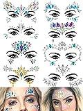 Warmfits 8 Sets Face Gems Mermaid Face Jewels...