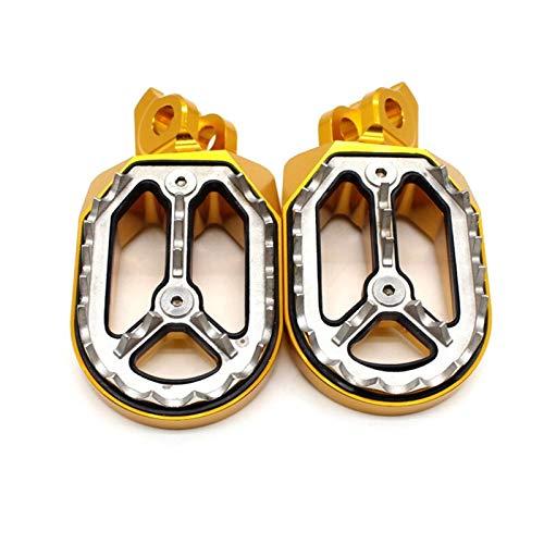 ACEACE CNC de Aluminio Foot Pegs Pedales Rest estribera reposapiés for RMZ 250 450 RMZ250 RMZ450 2010-2018 2017 2016 2015 2014 Foot Peg (Color : Gold)