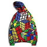 SSBZYES Felpa da Uomo Felpa con Cappuccio Autunno E Inverno Giacca Sportiva di Grandi Dimensioni Cubo di Rubik Orologio Stampa Maglione Casual Pullover Felpa con Cappuccio Manica Lunga