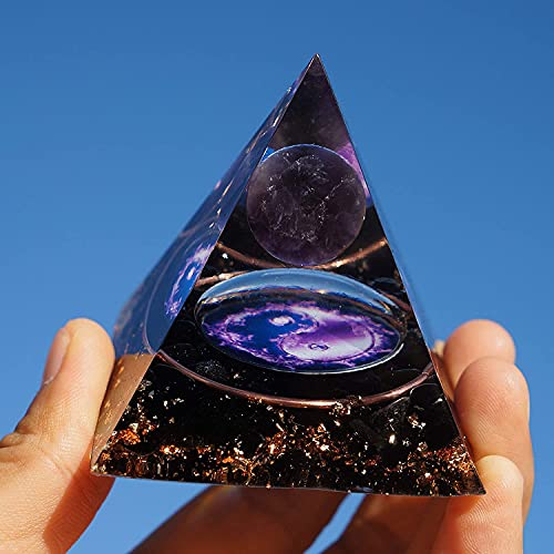 Magic Vision Amethyst Sphere with Obsidian...