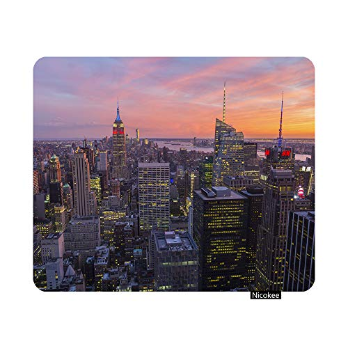 Nicokee Gaming Mouse Pad New York City Non-Slip Rubber Mouse Pad for Computers, Laptop, Office, Home Rectangle Personalized Mousepad 9.5 Inch x 7.9 Inch