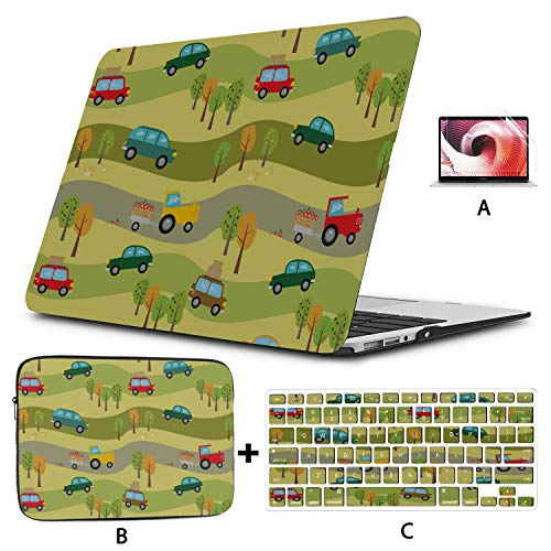Macbook Pro 15 Accessories Cars Tractors Forest Macbook Air Cover Hard Shell Mac Air 11'/13' Pro 13'/15'/16' With Notebook Sleeve Bag For Macbook 2008-2020 Version