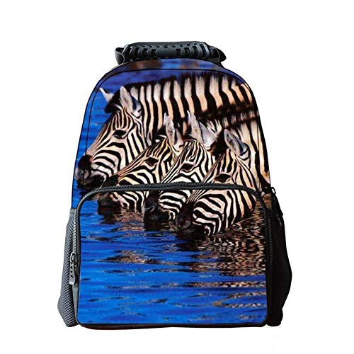 Jejhmy Creatieve Persoonlijkheid 3D Dier Zebra 40x28x16cm Reizen Mode Casual Outdoor Creatieve Rugzak afdrukken