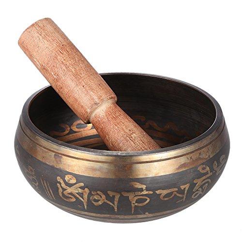 ammoon Tibetano de la Campana Metal Tazón de Cantar Exquisito 2,8 Pulgadas Hecho a Mano con el Delantero para el Budismo Meditación Budista & Relajación Curativa