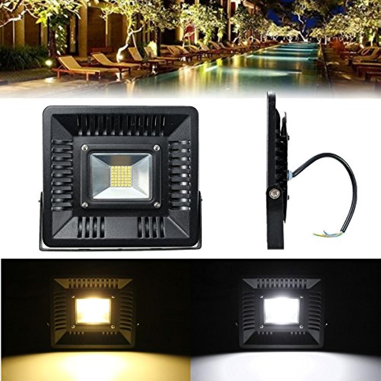 Wuchance 50W Outdoors ultra dünne LED-Flut-Licht-Garten-Yard-Lampen-warmes reines Wei (Farbe   Warm Weiß)
