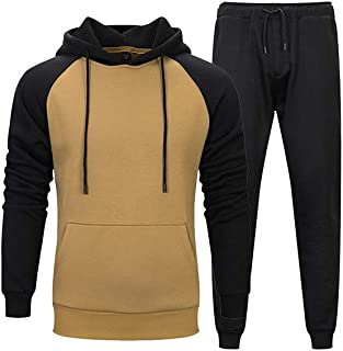 PASOK Men's Casual Tracksuit Sweat Suit Running Jogging Athletic Sports Shirts and Pants Set