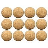 circulor - 12 bolas de corcho para el fútbol de mesa, bolas de corcho naturales muy tranquila (diámetro 36 mm)