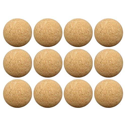Wateralone - Balón de futbolín de madera de 36 mm, mini futbolín, accesorios de futbolín, 6 piezas/12 piezas