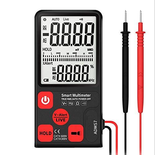 Multimetro Digitale TRMS 6000 Conti con NCV, Auto Misurazione Professionale Display LCD 3.5 Pollici Retroilluminante,Tester Precisi per Tensione AC DC Volt Ampere Resistenza Temperatura Set