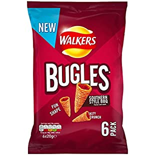 Walkers Bugles Southern Style BBQ Snacks, 20 g, Pack of 6:Donald-trump