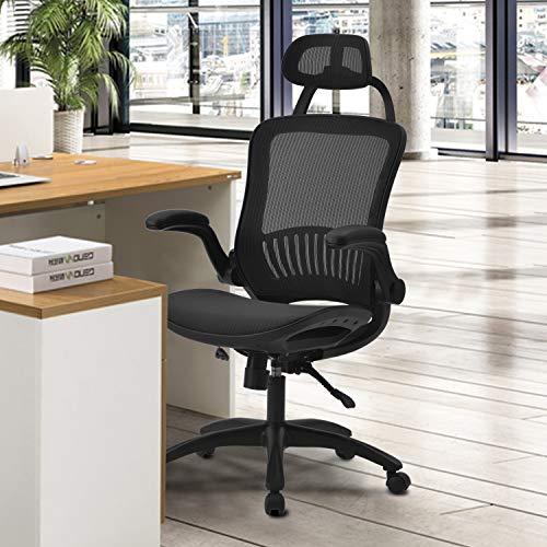 Merax Office Swivel Computer Chair Executive Chair Blue/Red/Black Black