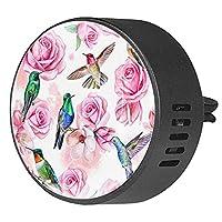 エッセンシャル オイル ベント クリップ用カー ディフューザー、カラフルな花の花のバラの鳥 ,2 パック 40mm アロマセラピー芳香剤
