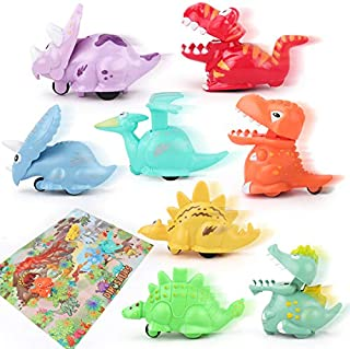 JoyGrow 8 Pack Baby Dinosaur Toys Wind Up Pull Back Dinosaur Toys Press and Go Dinosaur Playset for 1 2 3 Year Old Boys Girls Toddlers Kids Birthday Party
