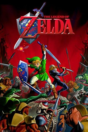 Pyramid America Legend of Zelda Battle Link and Sheik Video Gaming Poster 24x36 inch