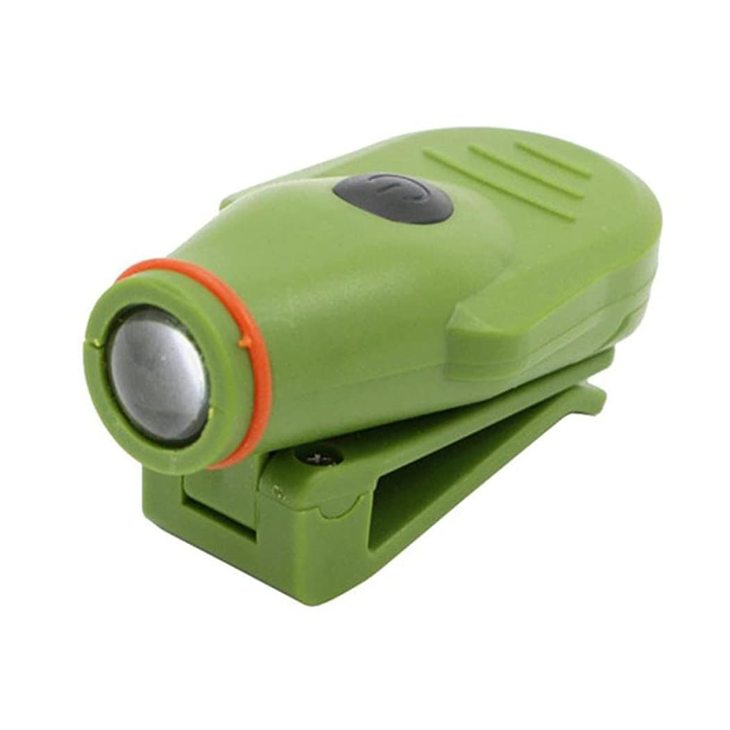 Quaanti Mini Super Bright Clip-on LED Hat Cap Beach Light Flashlight Camping Outdoor Hunting Bit Promotion Drop Shippping 2018 (Green)