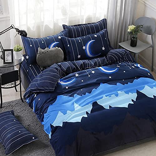 CLJKJDS Home Textile Ciano Cute Cat Copripiumino Federa Lenzuola Lenzuola Set Lenzuolo (Colore: 15, Dimensioni: 150 x 200)
