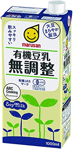 【Amazon.co.jp限定】 マルサン 有機豆乳無調整 1000ml ×12本