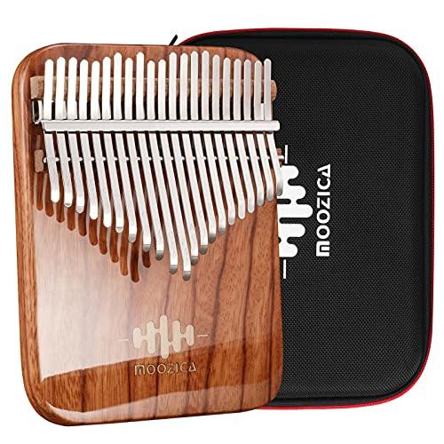 MOOZICA 21 touches Kalimba, Piano ¨¤ pouce professionnel Kalimba ¨¤ panneau unique en palissandre massif avec finition en laque de piano haute brillance